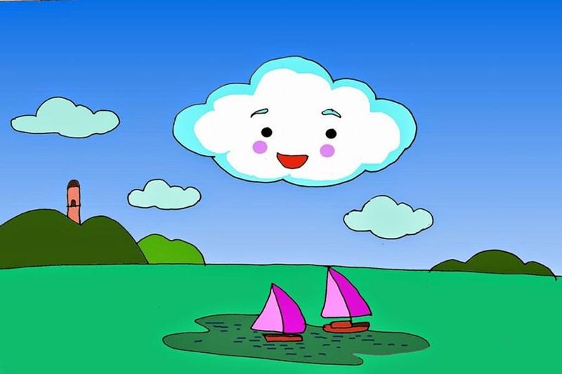 """Văn học: Truyện """" Hồ nước và mây"""" của khối mẫu giáo nhỡ 4 - 5 tuổi"""